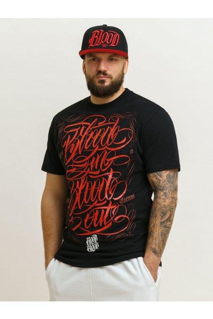 Pánské triko Blood In Blood Bibo Alegrafio - černé