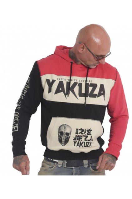 Pánská mikina s kapucí Yakuza Allergic 18004 black