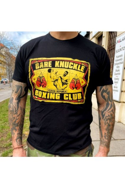 """Pánské ROWDIE triko """"BARE KNUCKLE"""" - holé pěsti"""