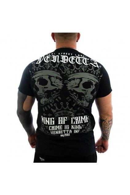 Pánské Tričko Vendetta Inc King of Crime VD-1164 černé