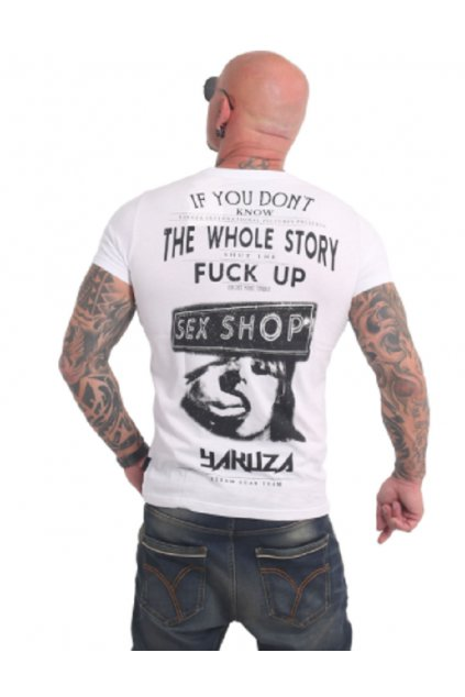 Pánské triko Yakuza XXX Shop TSB 17022 white