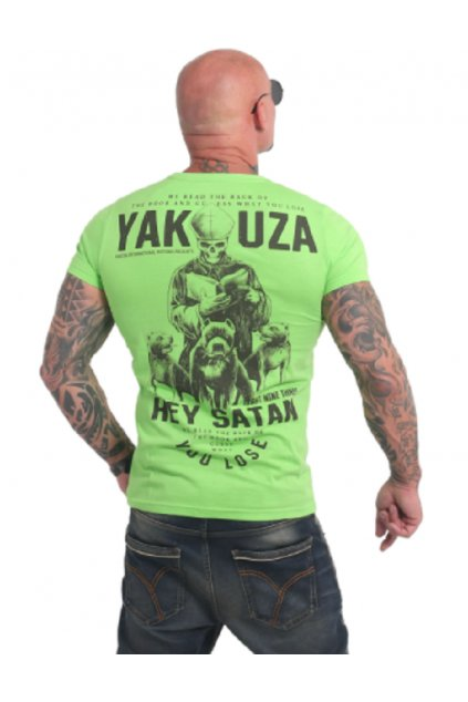 Pánské triko Yakuza Hey Satan TSB 17023 Rejasmine greend