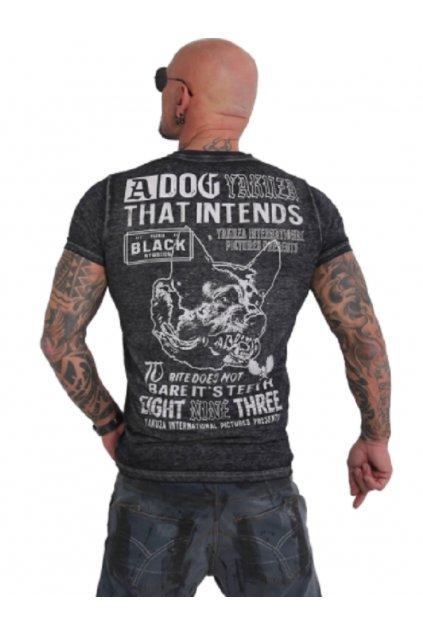 Pánské triko Yakuza Dog Burnout TSB 16014 black