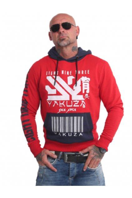 Pánská mikina Yakuza Nippon893 Two Face HOB 17001 ribbon red