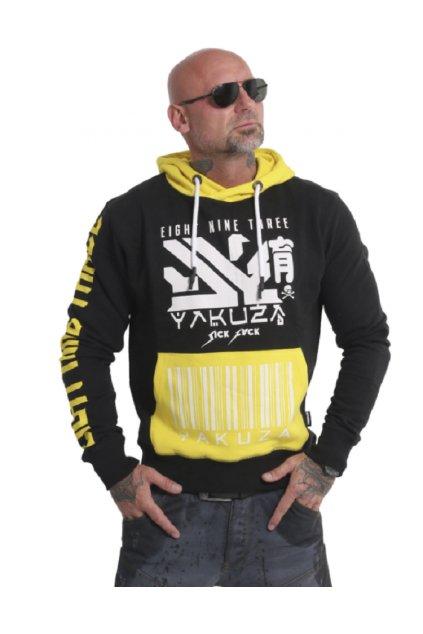Pánská mikina Yakuza Nippon893 Two Face HOB 17001 black