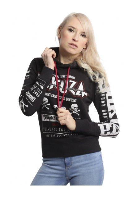 Dámská mikina Yakuza Guns vs People GHOB 17106 black