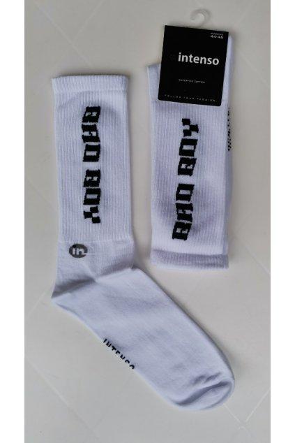 Vysoké ponožky Intenso BAD BOY white