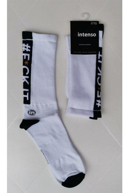Vysoké ponožky Intenso FCK IT white