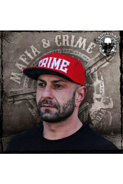 Basecap Mafia & Crime CRIME Logo červená obr1