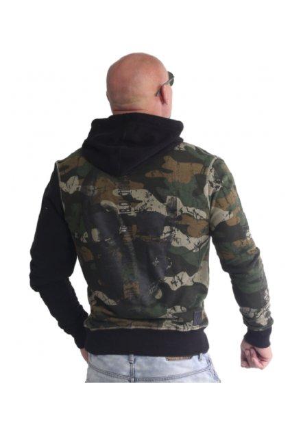 Pánská mikina s kapucí Yakuza Allergic 18004 camouflage