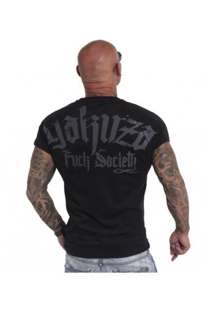 Pánské triko Yakuza Fck Society 19063 black