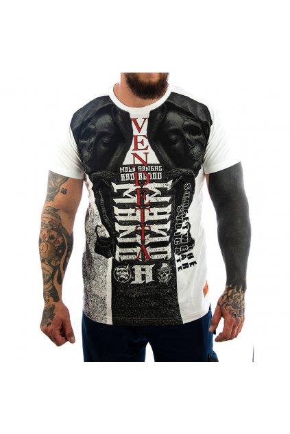 Pánské Tričko Vendetta Inc Bad Skull II  VD-1152 bílá