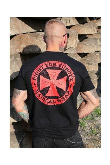 tričko kříž černé