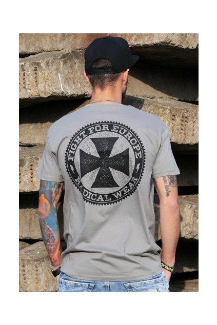 tričko kříž šedivé