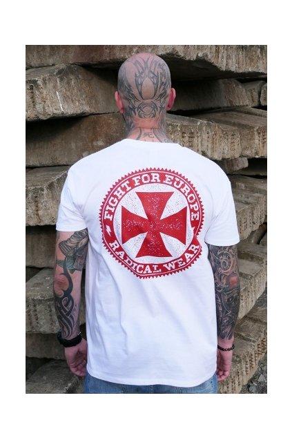 tričko kříž bílé