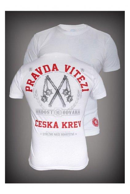 tričko pravda vítězí white