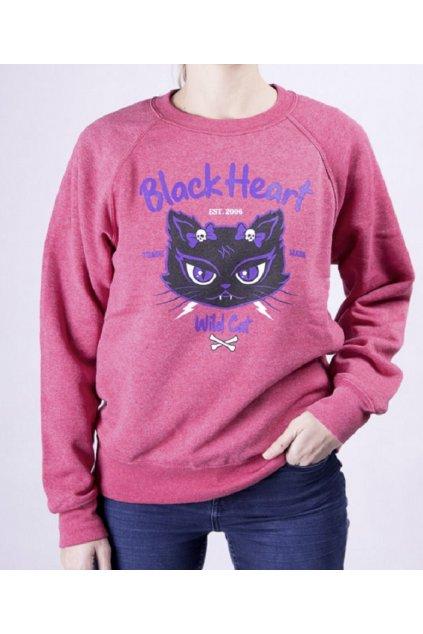 Dámská Mikina BLACK HART WILD CAT