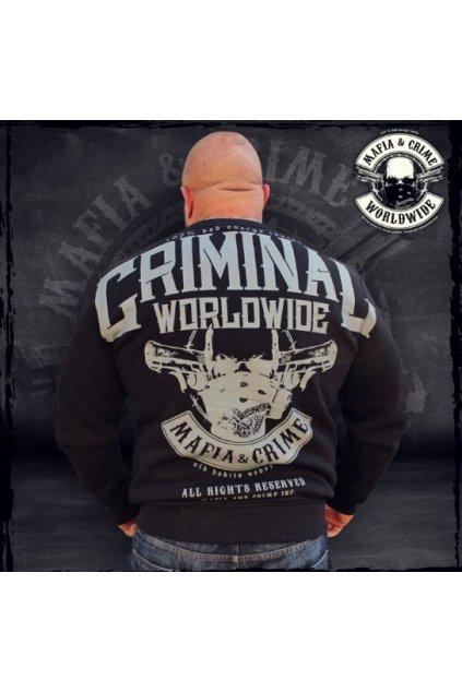 Pánská mikina Mafia & Crime MC Criminal černá obr1