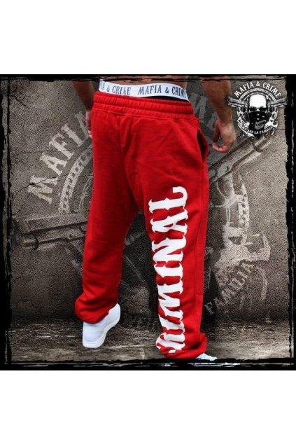 Pánské tepláky MC Criminal červené obr1