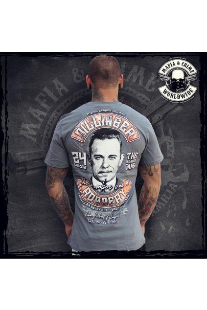 "Pánské triko Mafia & Crime ""Dillinger""Aanthrazit obr1"