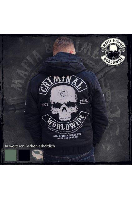 Zimní bunda Mafia & Crime Černá obr1