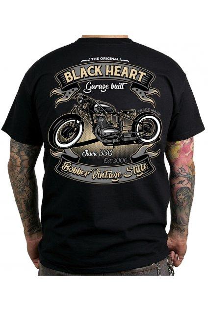 Pánské triko BLACK HEART JAWA BOBBER přední strana