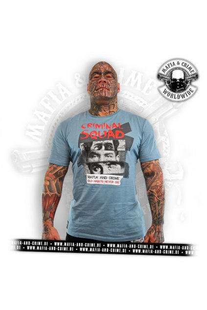 Pánské triko Mafia & Crime Criminal Squad Shirt navy obr1