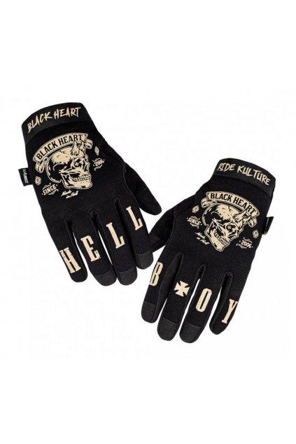 Moto rukavice W-TEC Black Heart Rioter přední strana