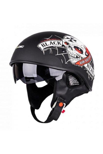 Moto přilba W-TEC V535 Black Heart Crusty Demons přední strana