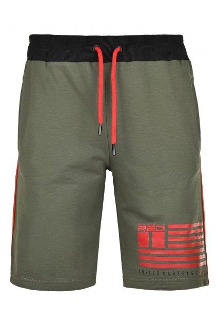 Pánské kraťasy United Cartels Of Red Shorts Olive obr1