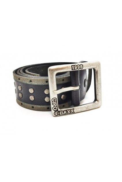 Pánský kožený pásek CIPO & BAXX C2150 black
