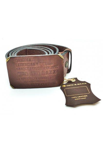 Pánský kožený pásek CIPO & BAXX CG154 brown