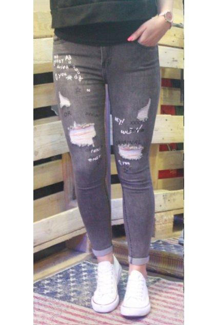 Dámské jeans MISS RJ Denim dark grey Tmavě šedé obr1