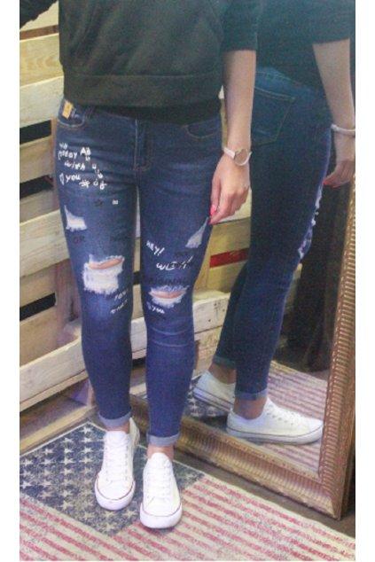 Dámské jeans MISS RJ Denim blue tmavě modré obr1