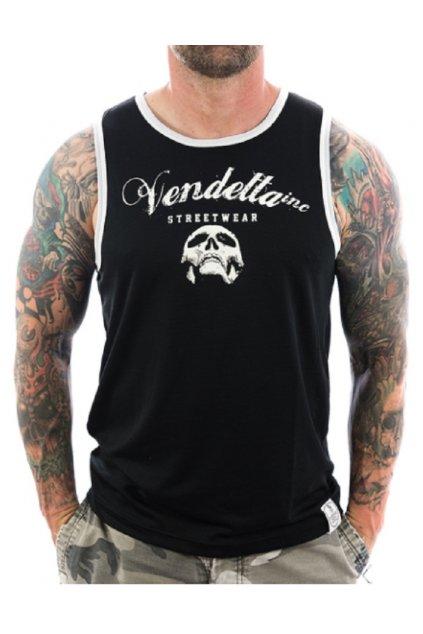 Vendetta pánské tílko Half Skull 6002 obr1