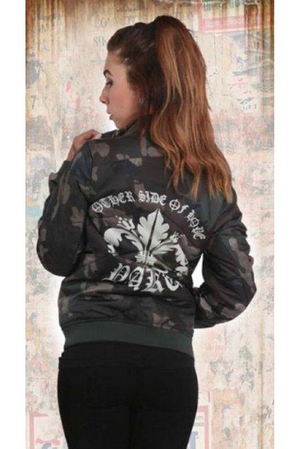 Yakuza dámská bunda Lily Padded Jacke GJB 12133 camouflage grey (Velikost XXS)