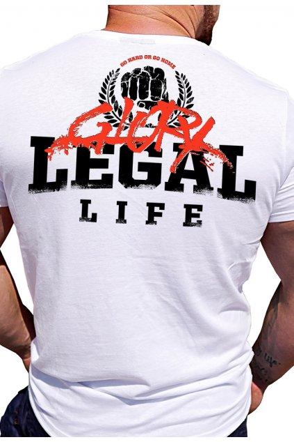 Legal Life pánské triko Glory bílá obr1