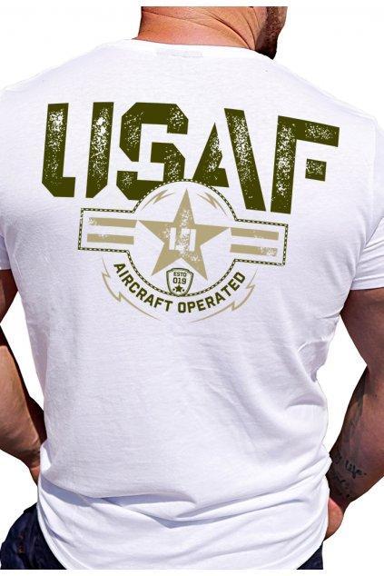 Legal Life pánské triko USAF bílá obr1