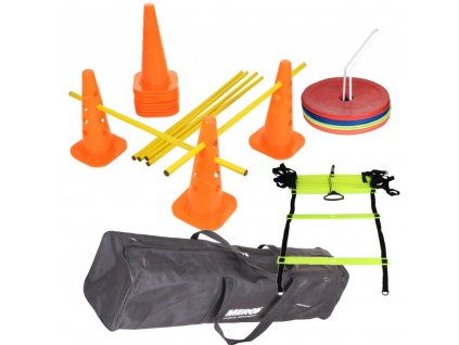 Tréninkový set kužele, mety a žebřík agility s taškou
