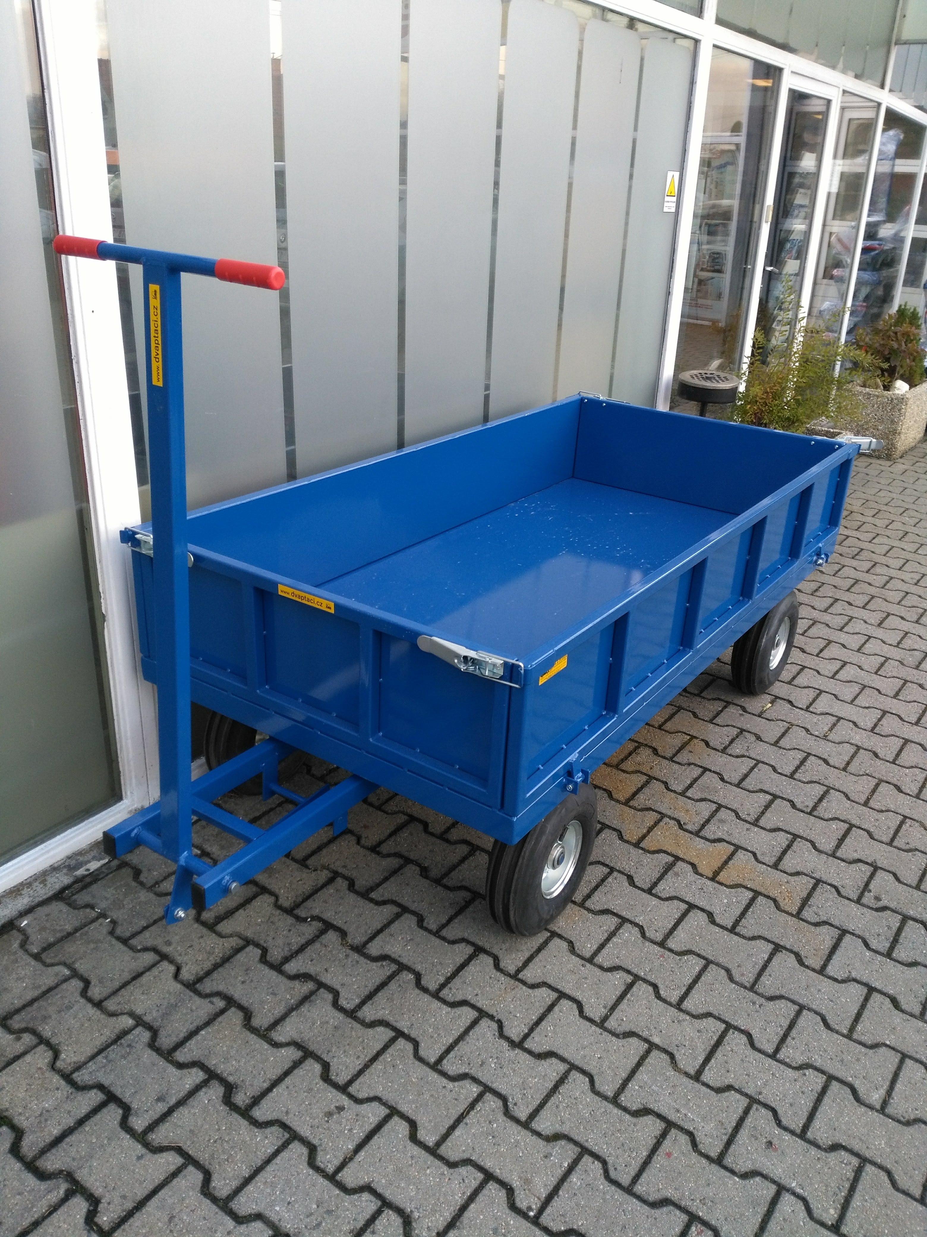 Dopravní vozík RSB s bočnicemi a plechovou podlahou