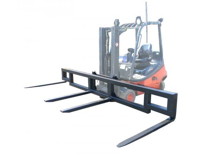 Traverza na VZV, 4 nosné vidle, nosnost 1500 kg, šířka 4000 mm