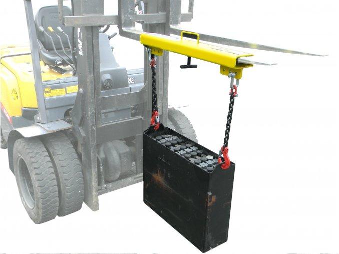 Nosič trakční baterie NB 01 pro vysokozdvižný vozík