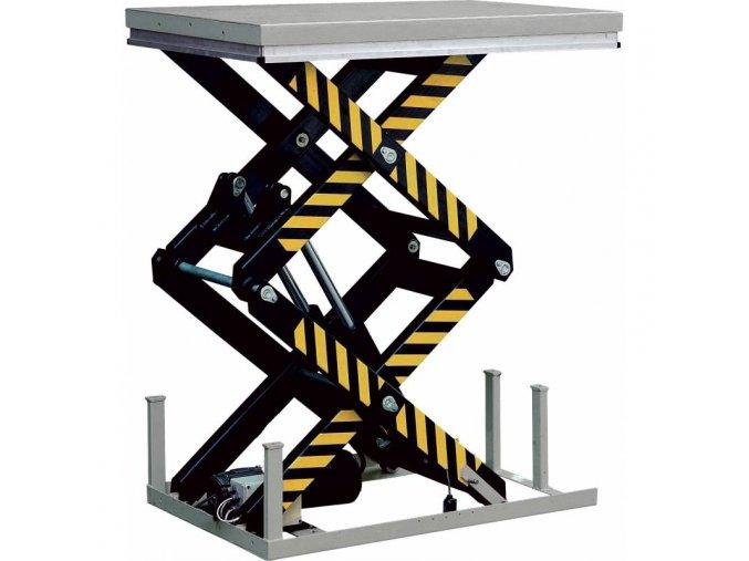 hydrauliczny nozycowy stacjonarny stol podnosny hd4000