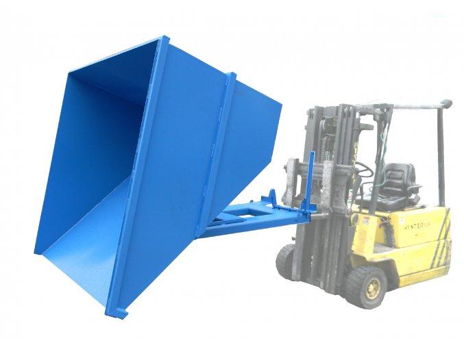 Výklopný kontejner pro vysokozdvižný vozík, objem 900 litrů