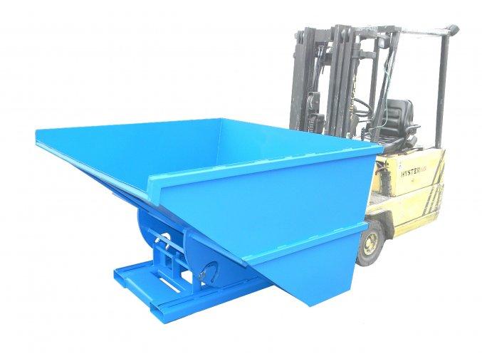 Výklopný kontejner pro vysokozdvižný vozík, objem 1200 litrů