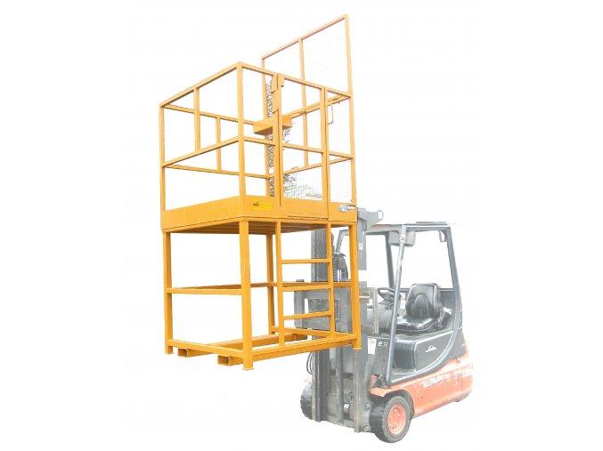 Zvýšená montážní plošina pro vysokozdvižný vozík PR1212-Z, rozměr 1200x1200 mm