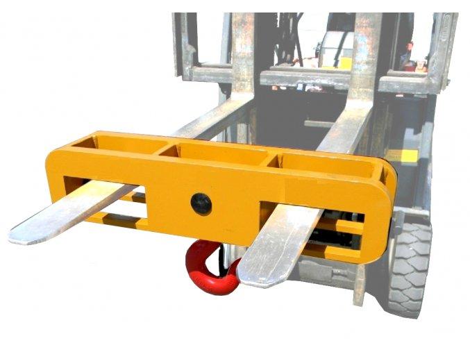 Závěsný hák na dvě vidlice vysokozdvižného vozíku UH 2/1000, nosnost 10000 kg