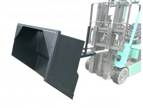 Mechanická lopata SM 040, šířka 1100 mm, objem 400 l