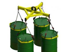Nosič sudů BP 50-4, nosnost 2000 kg