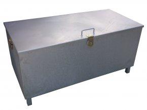 Pozinkovaný kontejner na použité žárovky, filtry a akumulátory, 375 l